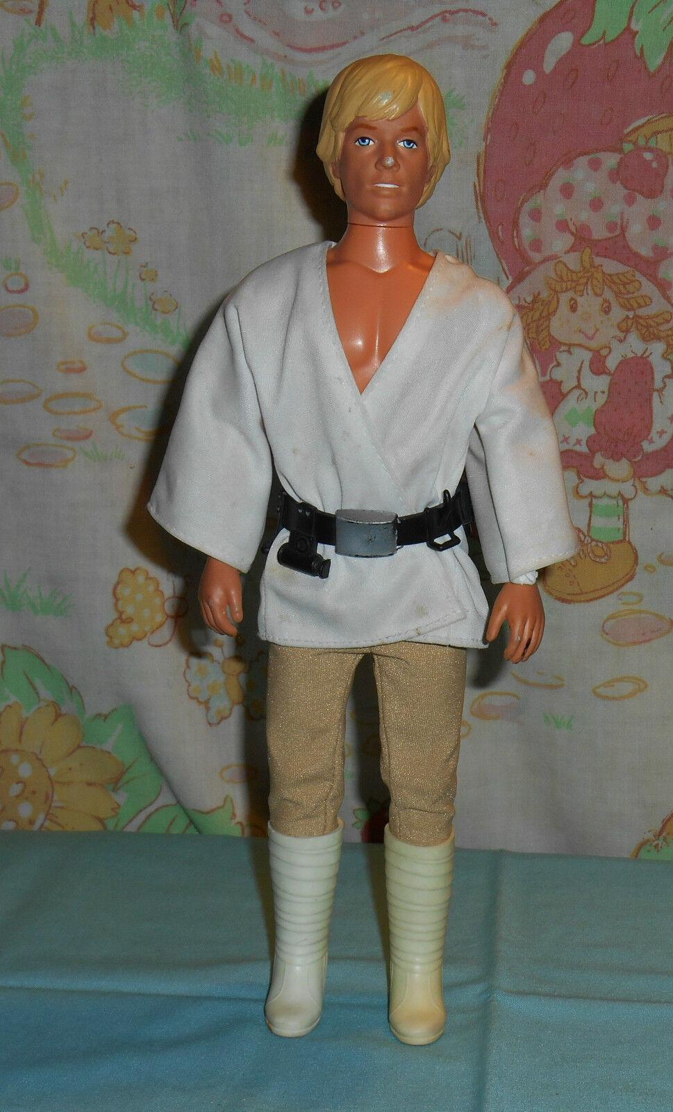 Vintage Star Wars LARGE-Größe (12 ) LUKE SKYWALKER with clothes & belt only