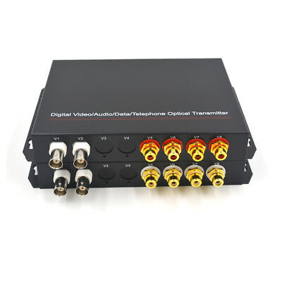 Premium Video Audio Fiber Optical Media Converters Tx//Rx for CCTV Security