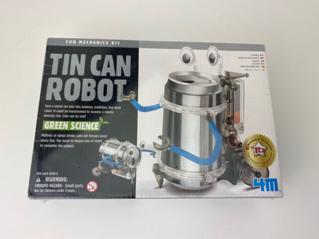 NEW IN BOX Green Science Kit TIN CAN ROBOT Educational Toy Mechanics Project