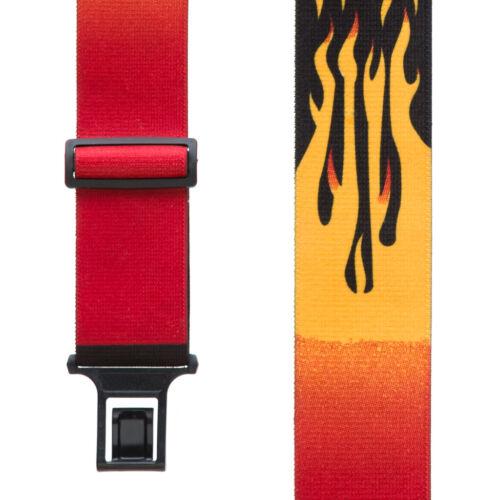Orange Flames Suspenders Perry Belt Clip
