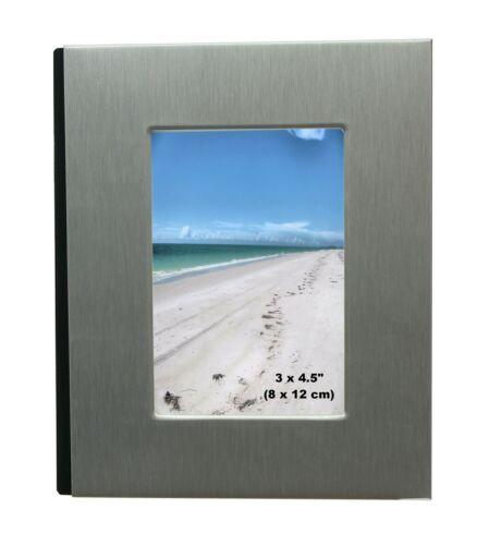 """Aluminium brossé satin couleur argent avant-Free standing ALBUM PHOTO 6 X 4/"""""""