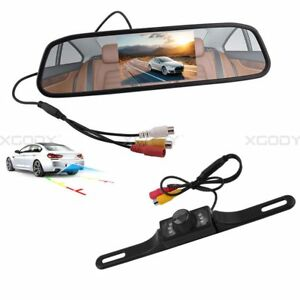"4.3"" Car TFT LCD Rear View Mirror Monitor Display + Reverse Parking Camera Set"