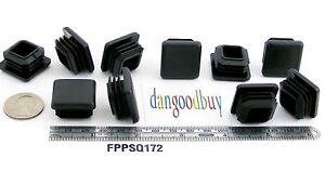 "5//8/"" x5//8 Square Plastic End Caps Ribbed Plugs for 14-20ga Tubing 10,25,50,100"