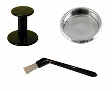 Coffee Machine 3-Piece Starter-Kit,Blanking Disc,Coffee-Tamper & Cleaning Brush