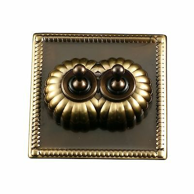 Convert A Switch Double Georgian Antique Brass Light Switch Dolly Toggle Cover