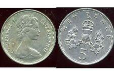 ROYAUME UNI   five   5  pence 1969