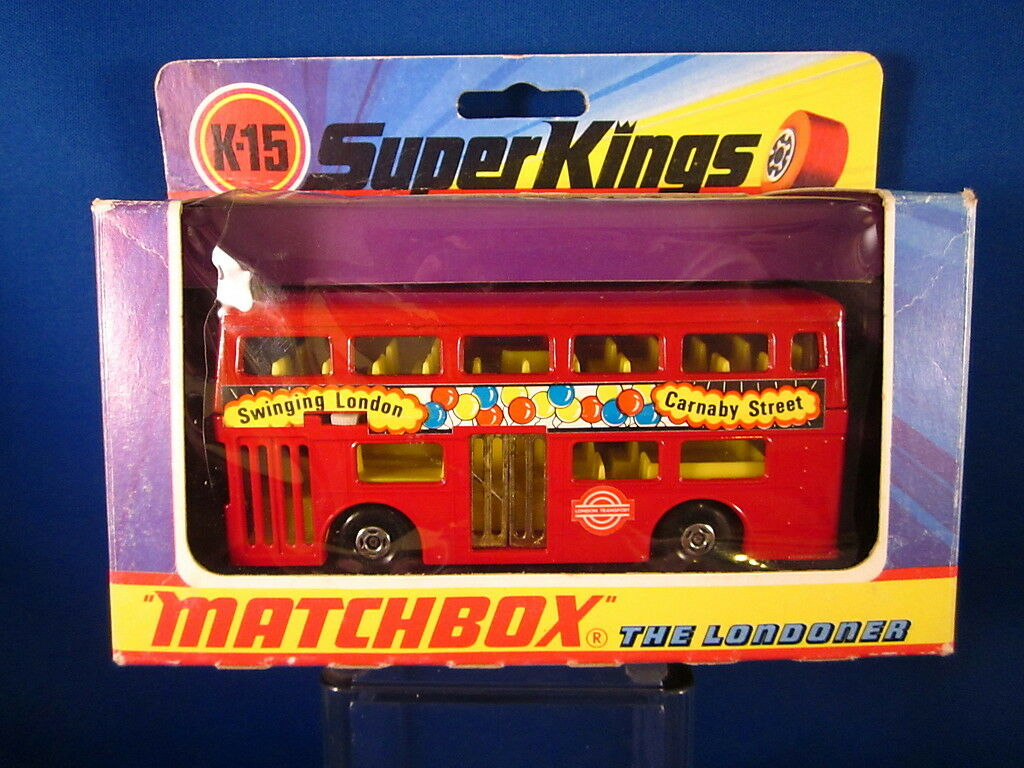 Matchbox Matchbox Matchbox Super Kings K15 The Londoner Bus 1973 England 104fe7