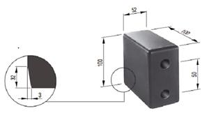 Rammpuffer Puffer Anschlagpuffer Anfahrpuffer 100x52 Bauhöhe 100 mm L201315