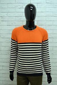 Maglione-ZARA-MAN-Uomo-Taglia-L-Maglia-Pullover-Cardigan-Sweater-Righe-Cotone