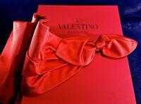 Valentino Garavani Ladies Red oro Collection Drape Belt With Bow - Tags