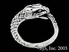 Sterling Silver Ouroboros Ring, Snake Eating Its Tail Ring, Jörmungandr Ring