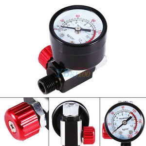 1-4-034-BSP-Threads-Mini-Air-Regulator-Tail-Control-Pressure-Gauge-Fit-Spray-Gun
