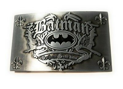 ~ NEW  BATMAN Chrome and Black ~ METAL BELT BUCKLE ~ great for comic con