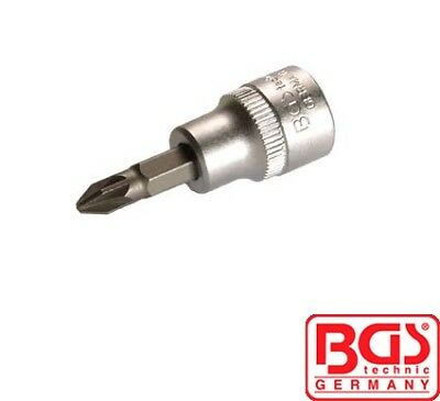 "BGS Tools 1//4/"" Bit Screwdriver Socket PZ1 Pozidriv 2490"