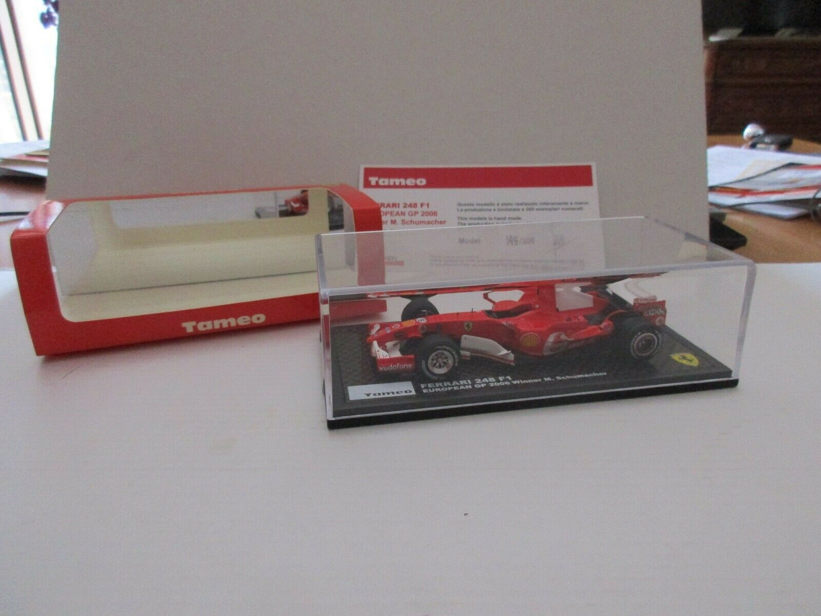 FERRARI 248 F1 EUROPEAN GP 2006  5 SCHUMACHER 1 43 TAMEO KITS TB003 BUILT MODEL