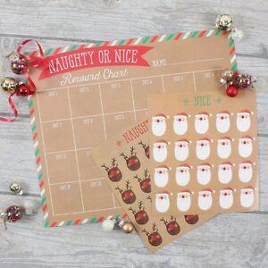 Countdown Natale.Dettagli Su Natale Conto Alla Rovescia Calendario Natale Cattivo Bello Adesivi Avvento Reward Chart Pack Mostra Il Titolo Originale