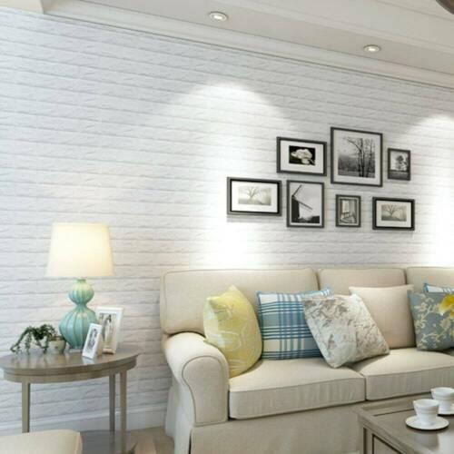 3D PE Foam Self Adhesive DIY Panels Wall Stickers Home Decor Embossed Brick 30CM