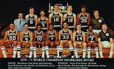 1970 71 Milwaukee Bucks 8x10 Photo Basketball Picture World Champs Wide Border Ebay