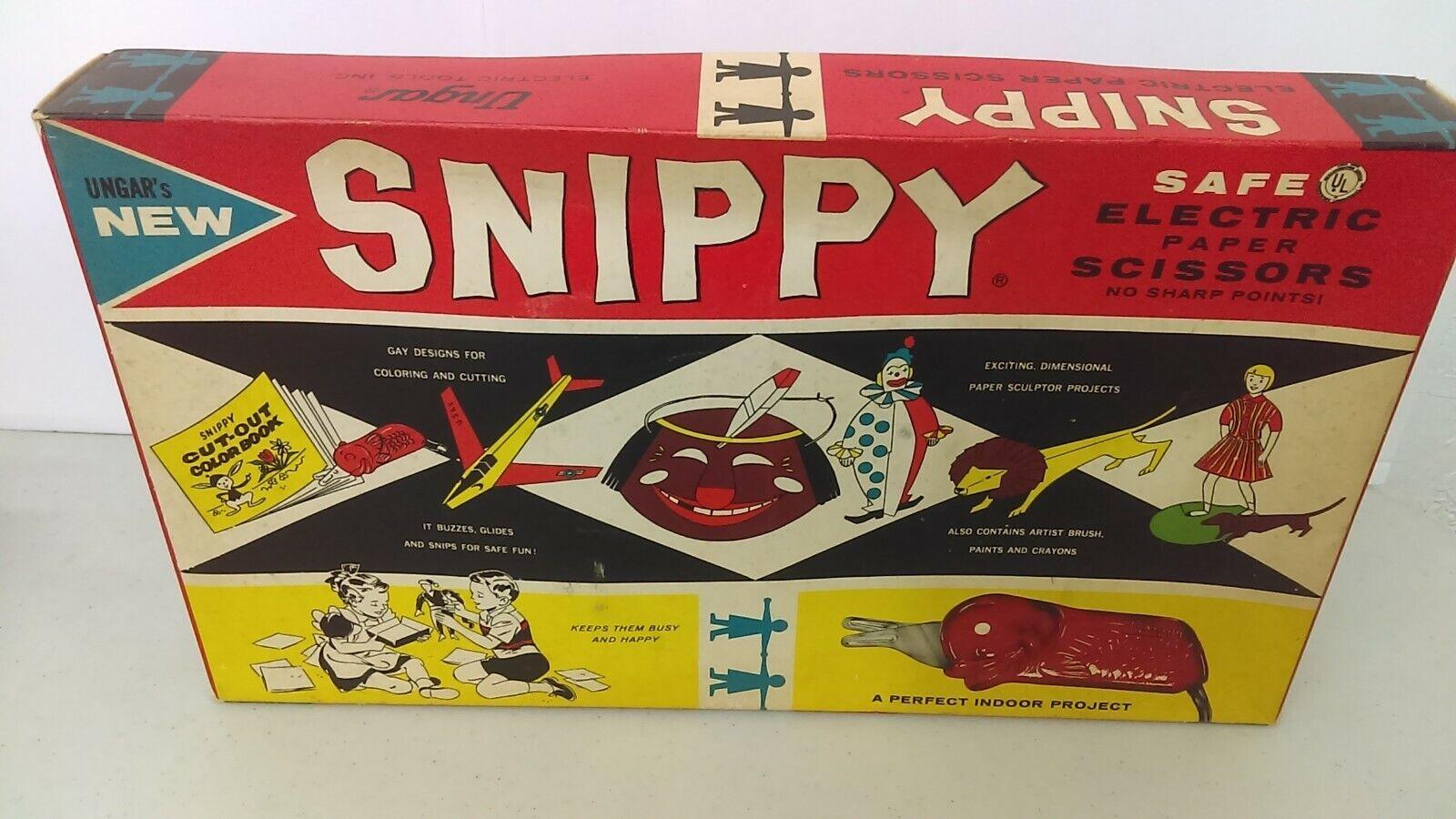 1958 Ungar Snippy  el pescado  Eléctrico Tijeras & Paint nunca usado nuevo viejo Stock menta en caja