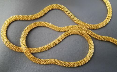 5 metros de cadena metálica serpientes cadena fina tejido cadena meshkette Gold 4mm 2,5mm