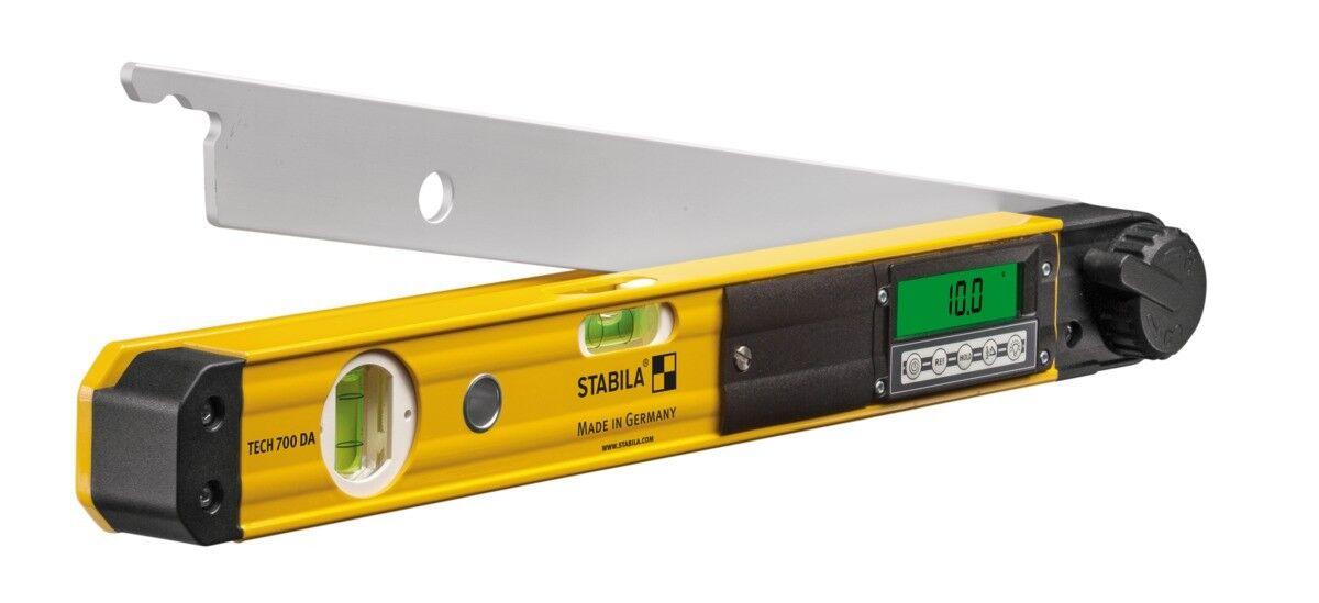 Stabila Elektronik-Winkelmesser TECH700DA 80cm Wasserwaage Schmiege Winkelmesser