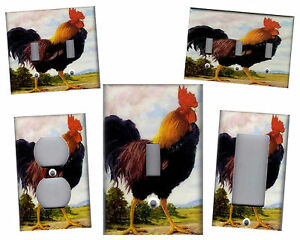 ROOSTER KITCHEN HOME DECOR LIGHT SWITCH PLATE