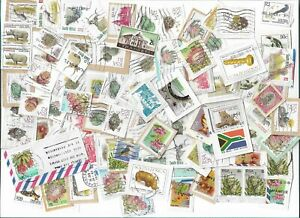 South-Africa-postage-stamps-x-190-mainly-on-paper-used-Batch-6
