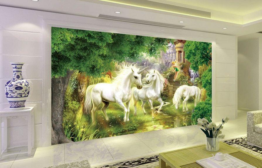 3D Forest horse tree 835 Paper Wall Print Decal Wall Wall Murals AJ WALLPAPER GB