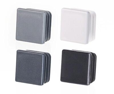 Quadratstopfen 45x45 Wei/ß Kunststoff Lamellenstopfen Abdeckkappe 5 Stck