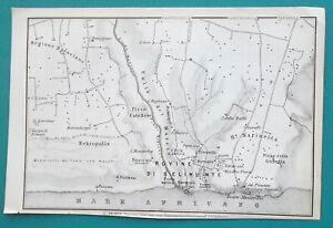 SICILY-Selinunte-Calatafimi-amp-Environs-Italy-1883-MAP-4-x-6-034-10-x-15-5-cm