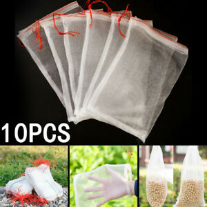 10-Pack-Reusable-Produce-Bags-Black-ROPE-Mesh-Vegetable-Fruit-Toys-Storage-Pouch