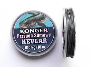 Professionnell<wbr/>e Carpe Tressé Ligne de Pêche avec Kevlar Catfish Noir 10 M