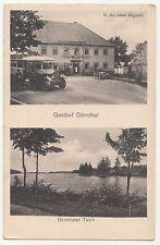 Litho Ak Dörnthal / Pfaffroda Gasthof Omnibus Dörnthaler Teich um 1910 ! (A1264