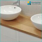 White Large Ceramic Bathroom Above Counter Basin Modern Unique Round Bench