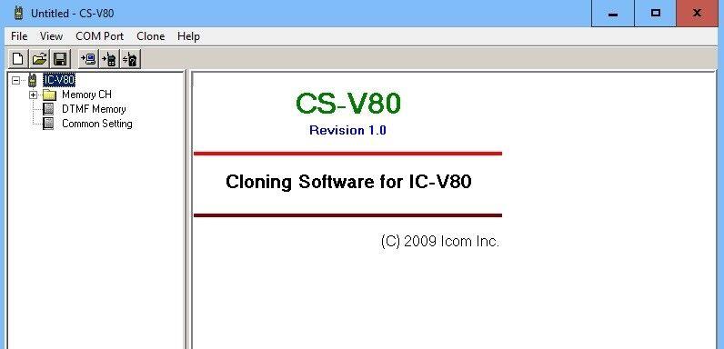 ICOM CS-V80 v1.0 for IC-V80