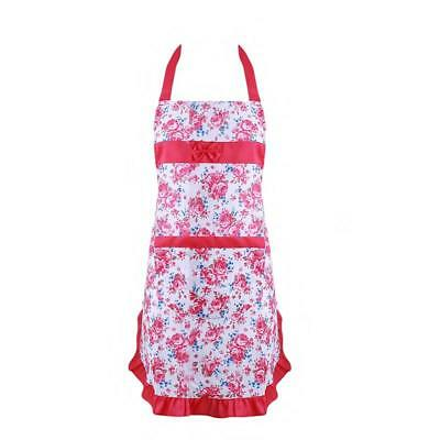 Cooking Apron Retro Lady Pinny Flowers Floral Pattern Green Vintage C