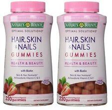 2pk Nature's Bounty Hair Skin & Nails w/ Biotin Strawberry 230 Gummies each