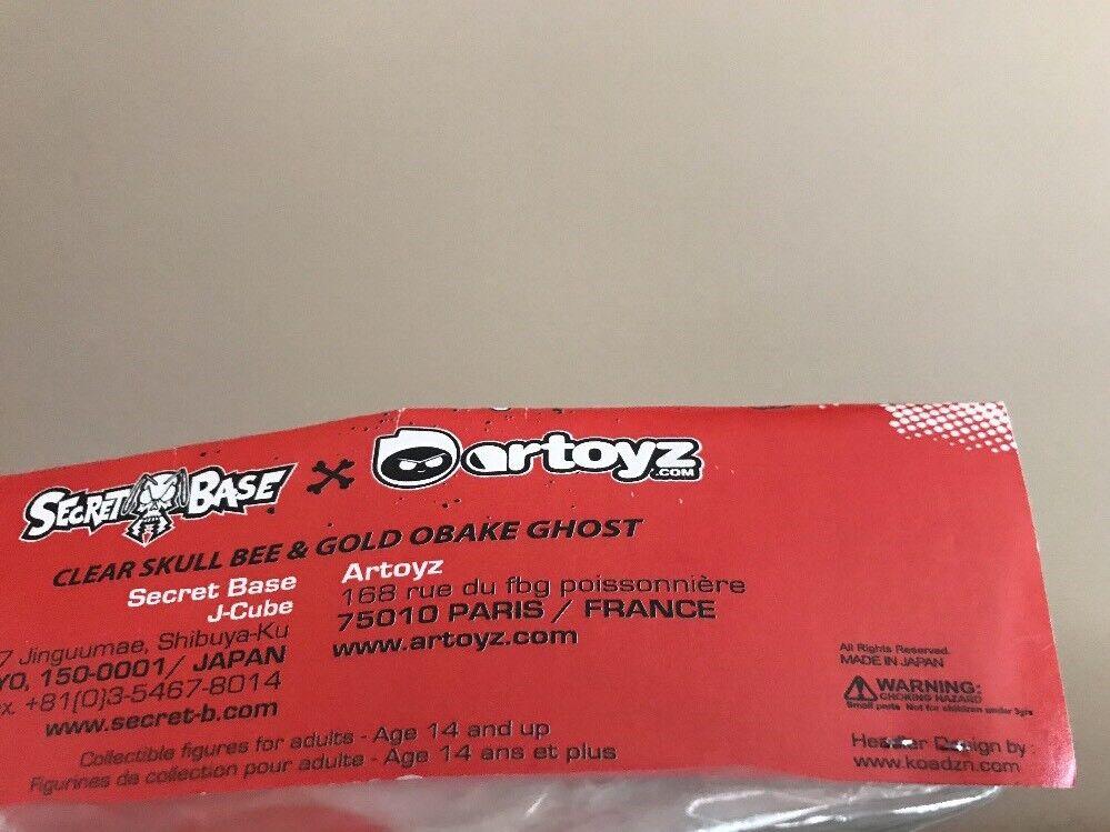Secret Base Artoyz Clear Clear Clear Skull Bee & gold OBAKE Ghost Vinyl Figure J-Cube 3b7384