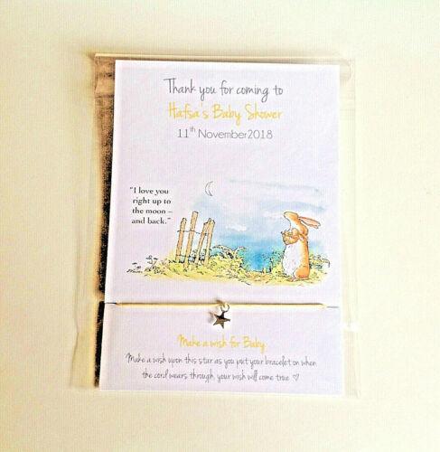Peter Rabbit Friendship // wish bracelet boy, Baby Shower Favour girl