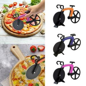 Pizza-Wheel-Cutter-Bicycle-Bike-Shaped-Roller-Chopper-Slicer-Kitchen-Tool