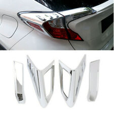 4x Chrome ABS Car Rear Tail Light Lamp Eyebrow Strip Trim For Toyota Camry 2018