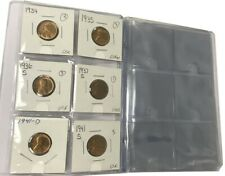 """NEW 60-Pocket GREEN Coin Collection Storage Album 2/""""x2/"""" Mylar Flips Coin Holders"""