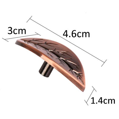 14x Blattform Tür Schubladenschrank Stoßgriff Knopf Für Wohnmöbel Dekor