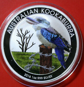Australien-1-Dollar-2016-Kookaburra-1-oz-F3807-ST-BU-Nur-2-000-Colored-frosted