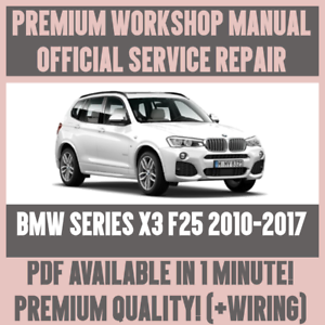 workshop manual service repair guide for bmw x3 f25 2010 2017 rh ebay com WDS BMW Wiring Diagrams Online BMW Radio Wiring Diagram