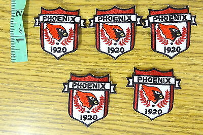 1920 Phoenix AZ Cardinals Sew On/ Iron On Patches (Lot of 5)
