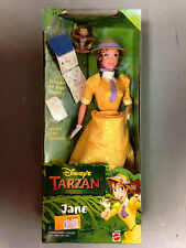 1999 MATTEL DISNEY'S TARZAN ANIMATED MOVIE JANE ACTION FIGURE BARBIE DOLL SET
