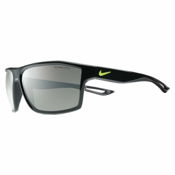 Nike Legend 65 Matte Black Frames Yellow Swoosh Grey Lenses Ev0940 001 216 for sale online | eBay