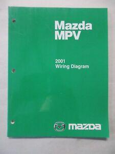 2001 MAZDA MPV ELECTRICAL WIRING DIAGRAMS SERVICE MANUAL ...