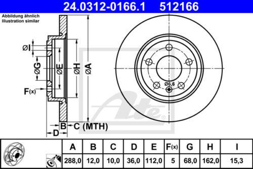 Ceramic Beläge Hinterachse für AUDI A4 Cabriol HA ATE Powerdisc Bremsscheiben
